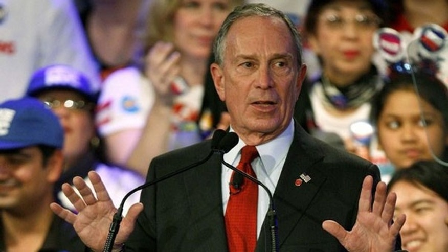 Nov. 3: New York mayor Michael Bloomberg speaks to supporters during his re-election victory party at campaign headquarters in New York (Reuters).
