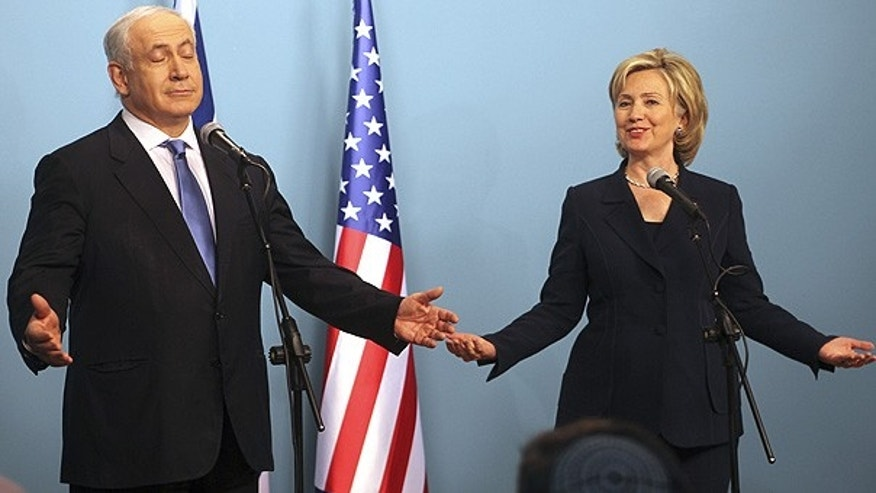 Oct. 31: Secretary of State Hillary Clinton and Israeli Prime Minister Benjamin Netanyahu at a press conference in Jerusalem.