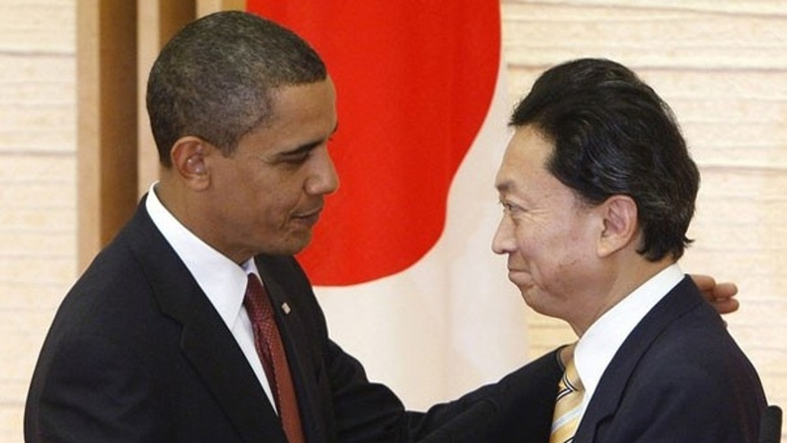 Nov. 13: President Obama and Japanese Prime Minister Yukio Hatoyama hold a joint news conference in Tokyo.  Obama arrived in Tokyo on Friday for a summit in which the two allies will seek to ease strained security ties as they adjust to a rising China, set to overtake Japan as the world's No.2 economy (Reuters).