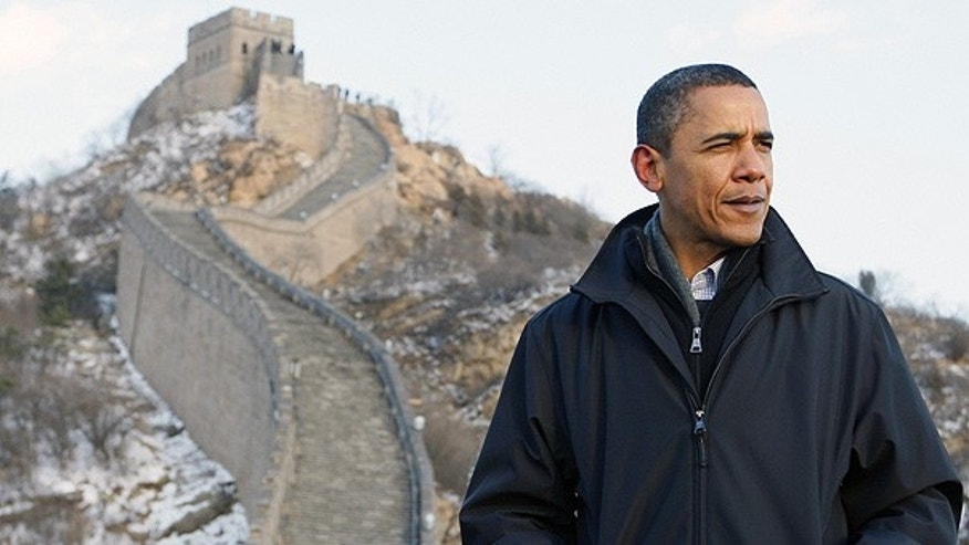 Nov. 18: President Obama tours the Great Wall in Badaling, China. (AP)