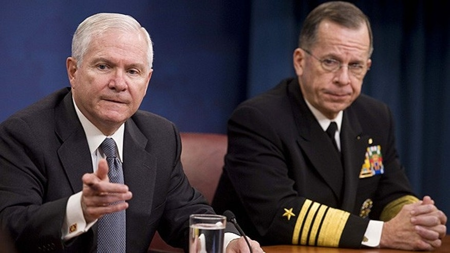 Nov. 19: Defense Secretary Robert Gates, left, and Joint Chiefs Chairman Adm. Michael Mullen at the Pentagon. (AP)
