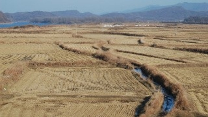 Traveling by bus to the DMZ, passing rice paddies (All photos: courtesy of Major Garrett)