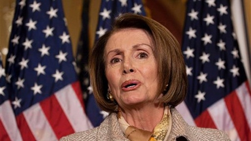 House Speaker Nancy Pelosi of Calif. speaks during her weekly news conference on Capitol Hill in Washington, Thursday, Nov. 5, 2009.  (AP)