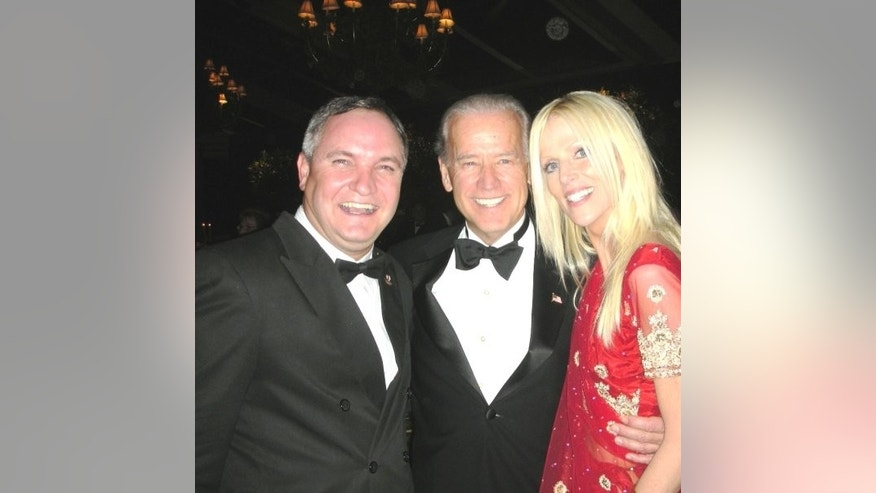 Tareq & Michaele Salashi with Vice President Joe Biden. Photo Courtesy of Michaele Salahi