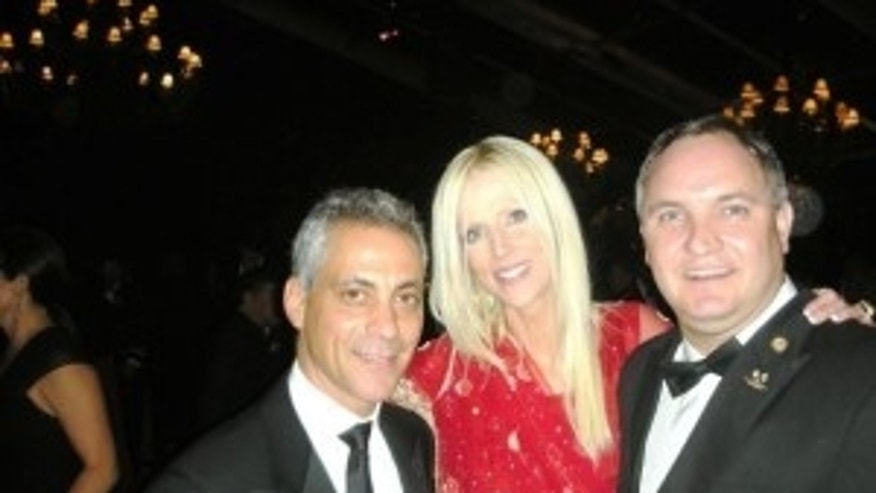 Michaele & Tareq Salashi with White House chief of staff Rahm Emanuel. Photo courtesy of Michaele Salahi