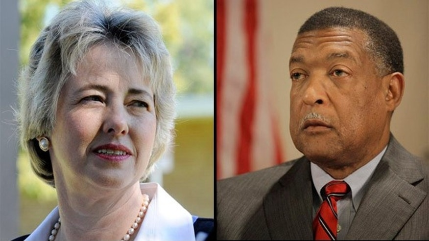 Houston Mayoral candidates Annise Parker and Gene Locke. (AP)