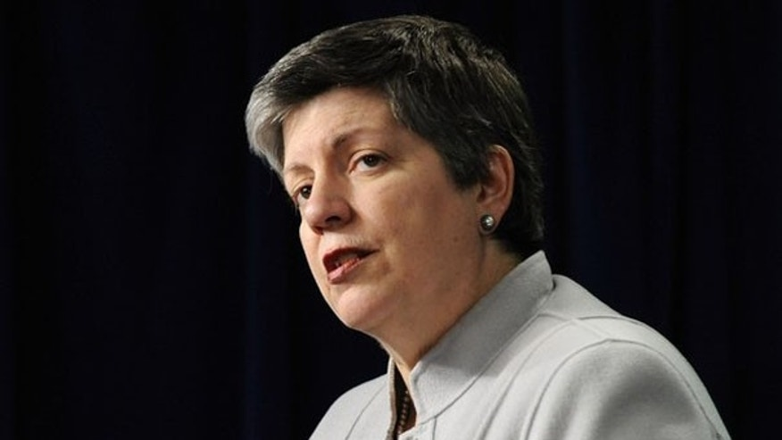 Secretary of Homeland Security Janet Napolitano speaks to reporters Dec. 7 in Washington. (Reuters Photo)
