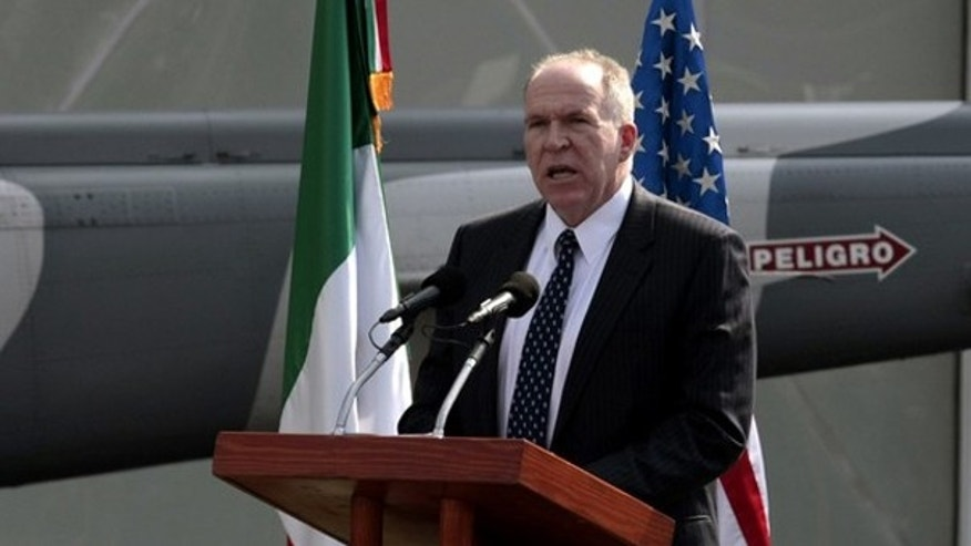 John Brennan, U.S. President Barack Obama's assistant for counterterrorism and homeland security, speaks at a ceremony in Mexico City December 15, 2009. (Reuters)