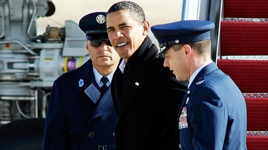 Jan. 4: President Obama at Andrews Air Force Base, in Maryland, after returning from vacation in Hawaii. (AP)