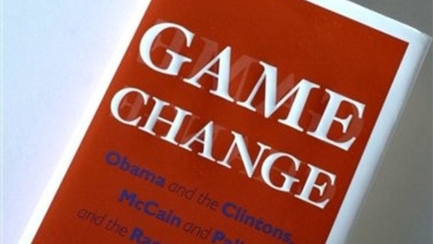 "Shown here is a copy of the book, ""Game Change."" (AP Photo)"