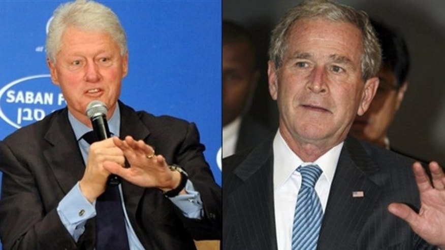 Former President Bill Clinton, left, and former President George W. Bush will assist in the Haiti relief effort. (AP Photos)