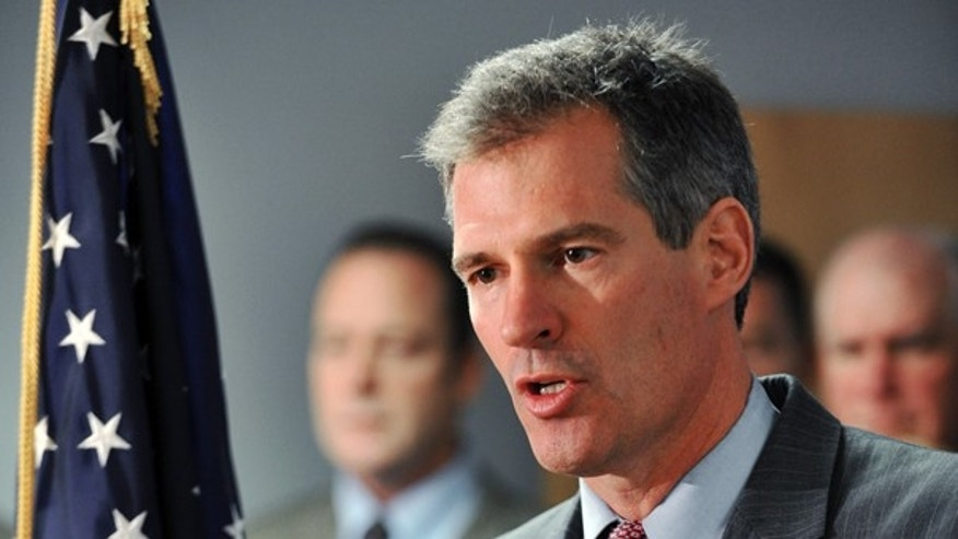 Jan. 11: Scott Brown speaks during a news conference in Marlborough, Mass., before winning the special election to the U.S. Senate seat. (AP Photo)