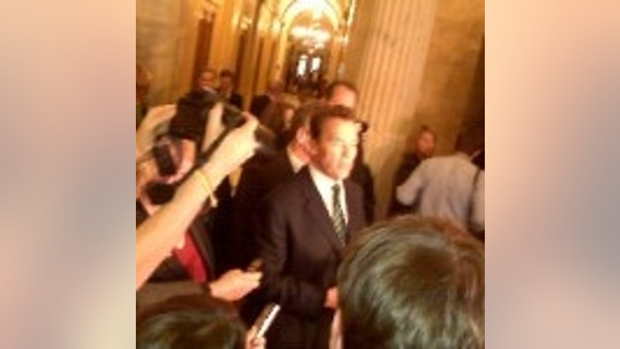 California Gov. Arnold Schwarzenegger on Capitol Hill, Jan. 21, 2010. (Fox Photo)