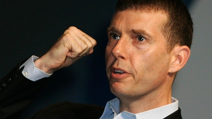 FILE: David Plouffe, who led Barack Obama's winning campaign for the White House, speaks at the Cannes Lions 2009, 56th International Advertising Festival in Cannes, southern France on June 25, 2009. (AP)