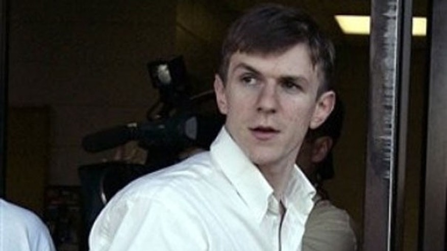 Jan. 26: James O'Keefe walks out of the St. Bernard Parish jail in Chalmette, La. (AP).
