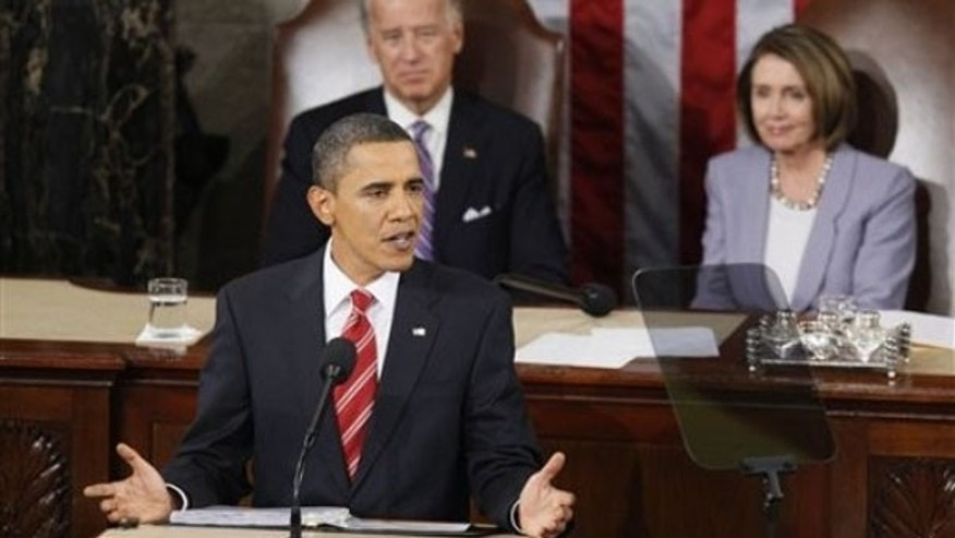 President Obama delivers his State of the Union address in Washington Jan. 27. (AP Photo)