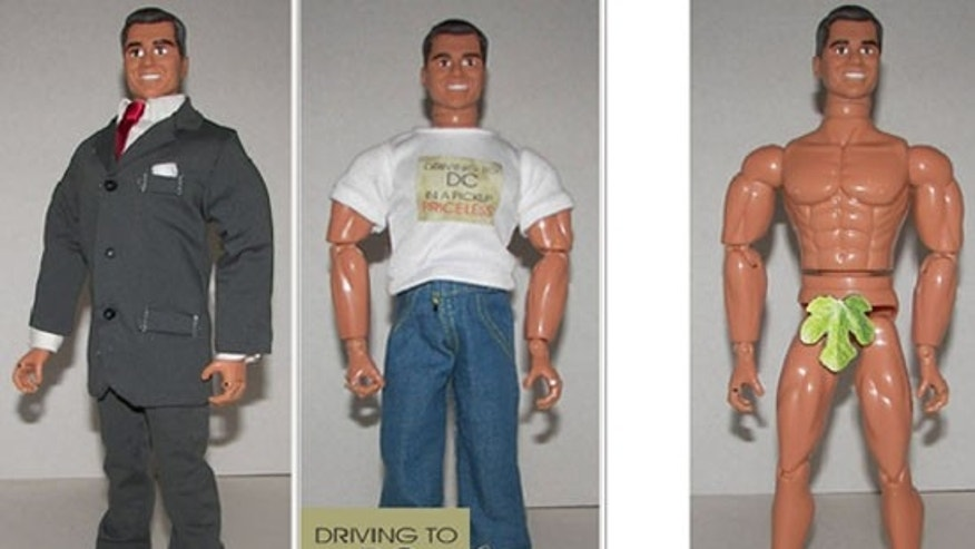 Shown here is a new action figure depicting incoming Sen. Scott Brown. (Herobuilders.com)