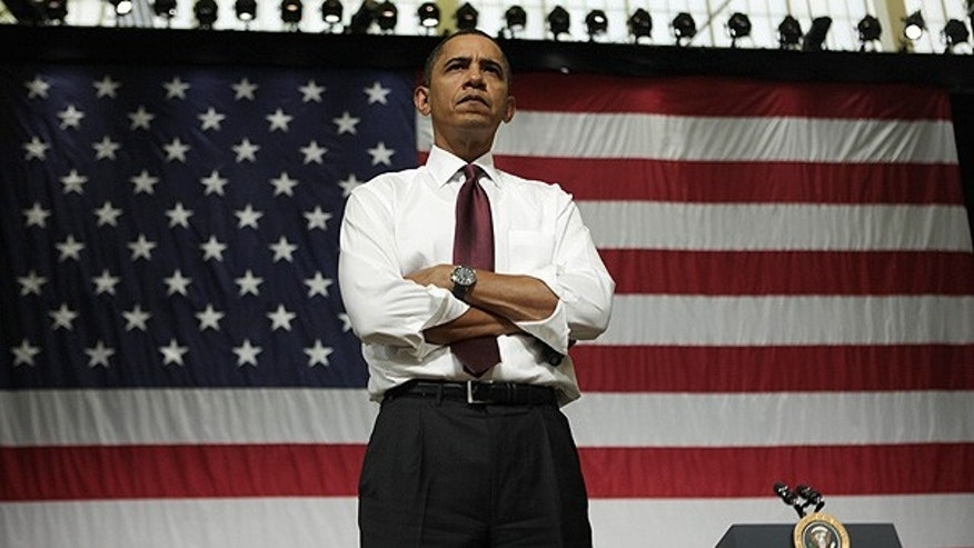 Feb. 2: President Obama listens to a question during his town hall meeting at Nashua High School North in Nashua, N.H.