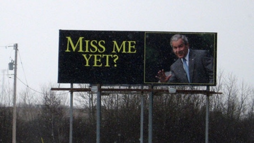 Shown here is a picture of a billboard in Wyoming, Minn. (Courtesy of Bob Collins, Minnesota Public Radio)