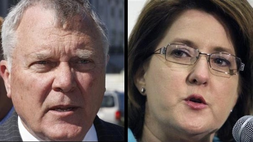 Rep. Nathan Deal, a Republican candidate for governor in Georgia, and Republican Debra Medina, a candidate for governor in Texas. (AP)