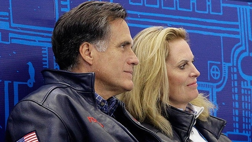 Feb. 14: Mitt Romney and his wife Ann attend the short program figure skating pairs competition at the Vancouver 2010 Olympics.