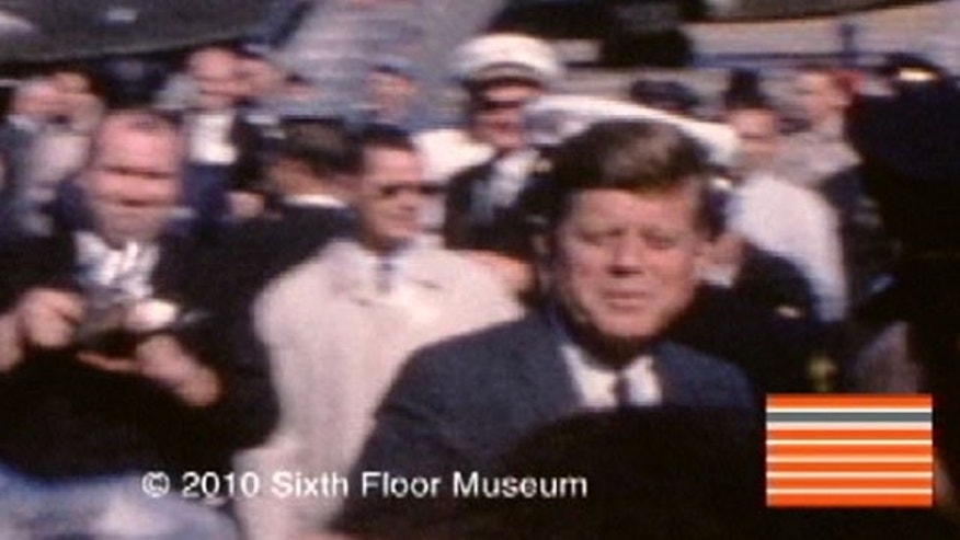 This frame grab from a Nov. 22, 1963, film provided by The Sixth Floor Museum at Dealey Plaza, shows President John F. Kennedy on his arrival in Dallas on the day he was assassinated.