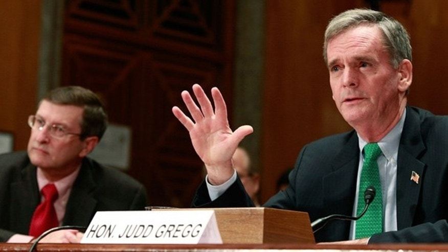 Dec. 17, 2009: Sen. Judd Gregg is seen at a Senate Homeland Security and Governmental Affairs Committee hearing. (AFP)