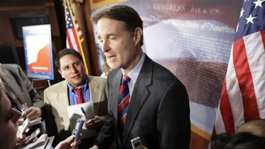 Jan. 26: Indiana Sen. Evan Bayh answers questions on Capitol Hill. (AP Photo)
