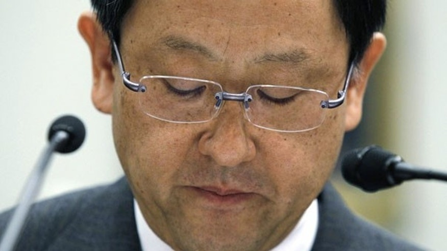 Toyota CEO Akio Toyoda testifies on Toyota's car safety before the House Committee on Oversight and Government Reform on Capitol Hill Feb. 24. (Reuters Photo)