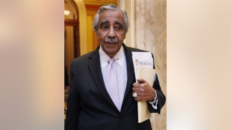 House Ways and Means Committee Chairman Rep.Rangel, D-NY, leaves the House chamber on Capitol Hill. (AP Photo)