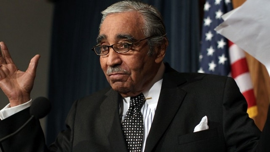 Feb. 25, 2010: Rep. Charlie Rangel, D-N.Y., chairman of the House Way and Means Committee, addresses reporters after the ethics panel admonished him. (AP)