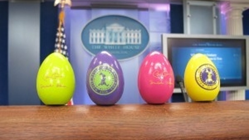 White House Easter Eggs (photo by Fox News)