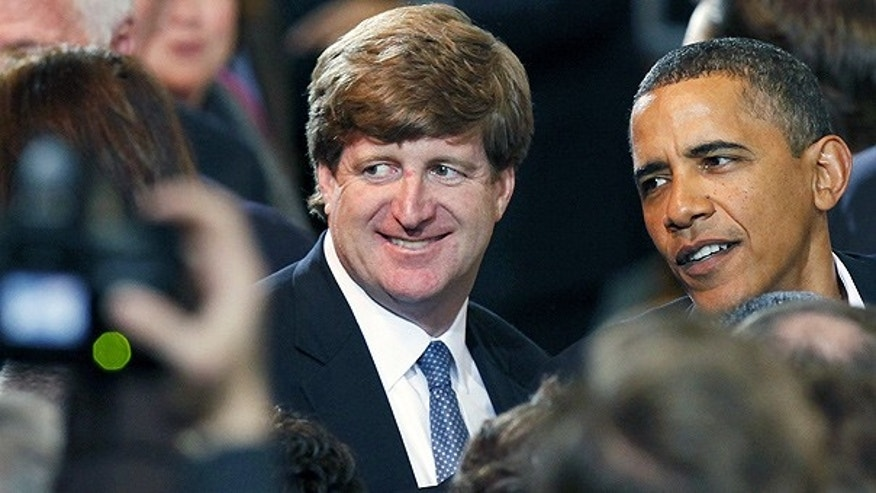 Jan. 17: Rep. Patrick Kennedy and President Obama at a campaign rally for Mass. Attorney General Martha Coakley.
