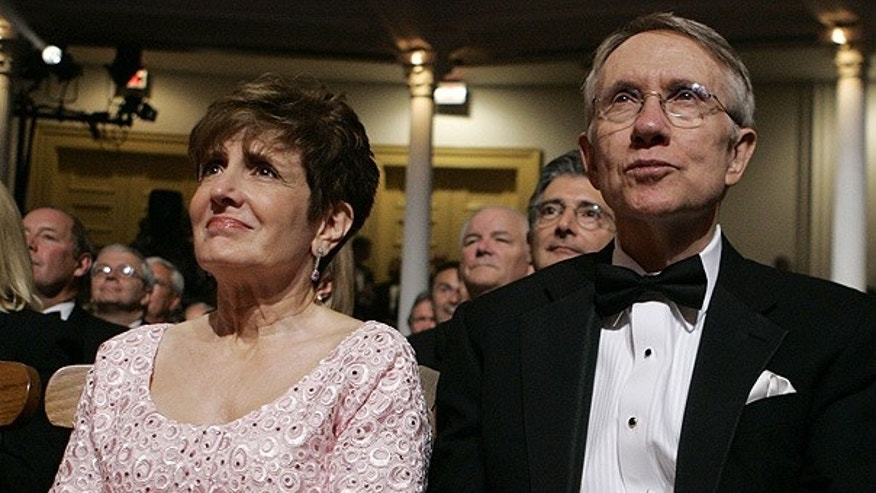 FILE: Senate Majority Leader Harry Reid and his wife Landra attend an event at Ford's Theater in Washington.