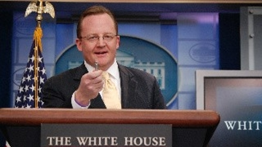 Robert Gibbs during his Daily Press Briefing (Fox Photo by Major Garrett)