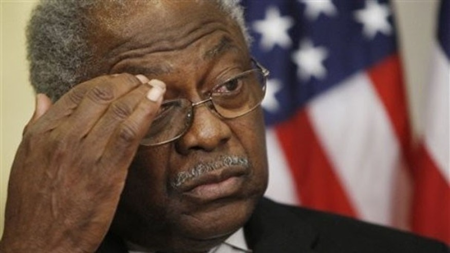 Rep. James Clyburn speaks to reporters on Capitol Hill in Washington Jan. 15. (AP Photo)
