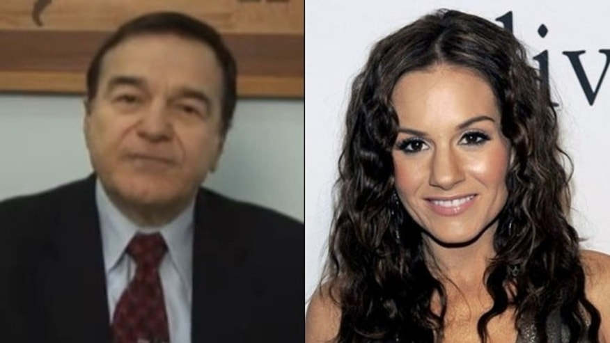 Former Rep. Joe DioGuardi, left, is running for U.S. Senate. His daughter Kara, right, is an 'American Idol' judge. (YouTube/AP Photo)