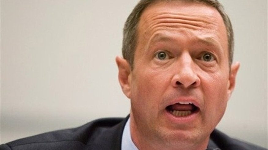 "Maryland Governor Martin O'Malley testifies before the Committee on Oversight and Government Reform hearing on ""Tracking the Money: Preventing Waste, Fraud and Abuse of Recovery Act Funding"" on Capitol Hill, Wednesday, July 8, 2009, in Washington. (AP)"