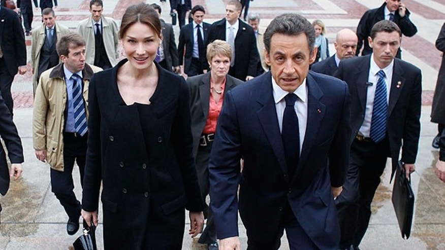 Mar. 29: French President Nicolas Sarkozy and his wife, Carla Bruni, arrive at Columbia University in New York.