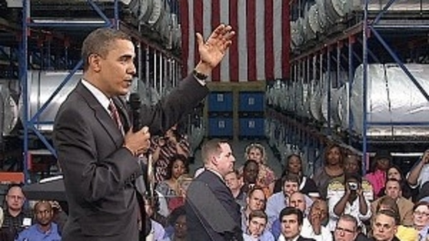 President Obama speaks to workers in Charlotte, NC