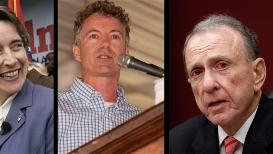 Sen. Blanche Lincoln, Rand Paul, and Sen. Arlen Specter are three of the candidates facing primary challenges in May. (AP)