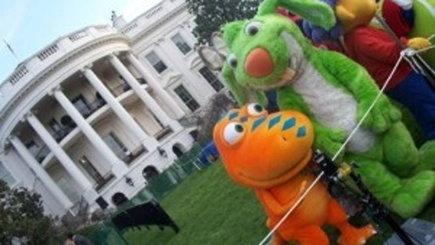 A Cast of Characters Hop on the White House South Lawn for the Annual Easter Egg Roll