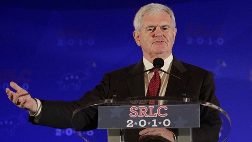 Apr. 8: Newt Gingrich addresses the Southern Republican Leadership Conference in New Orleans.