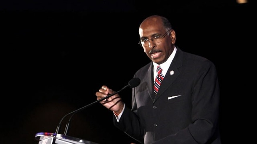 April 10, 2010: Republican National Committee chairman Michael Steele speaks at the Southern Republican Leadership Conference in New Orleans.