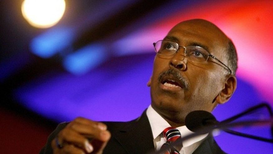 RNC Chairman Michael Steele speaks at the 2010 Southern Republican Leadership Conference in New Orleans April 10. (Reuters Photo)