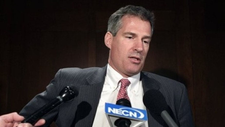Sen. Scott Brown comments on President Obama's health care plan in Boston March 22. (AP Photo)
