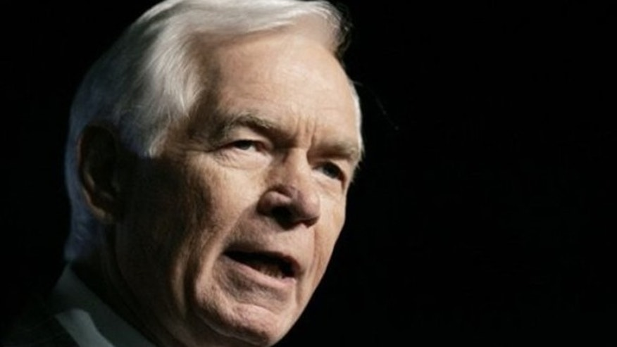 In this April 16, 2009, file photo, Sen. Thad Cochran speaks at the annual meeting of the Mississippi Economic Council in Jackson, Miss. (AP Photo)