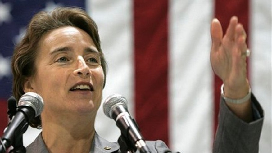 FILE: Sen. Blanche Lincoln, D-Ark., speaks during an aviation industry forum in Little Rock, Ark., on Aug. 12, 2009. (AP Photo)
