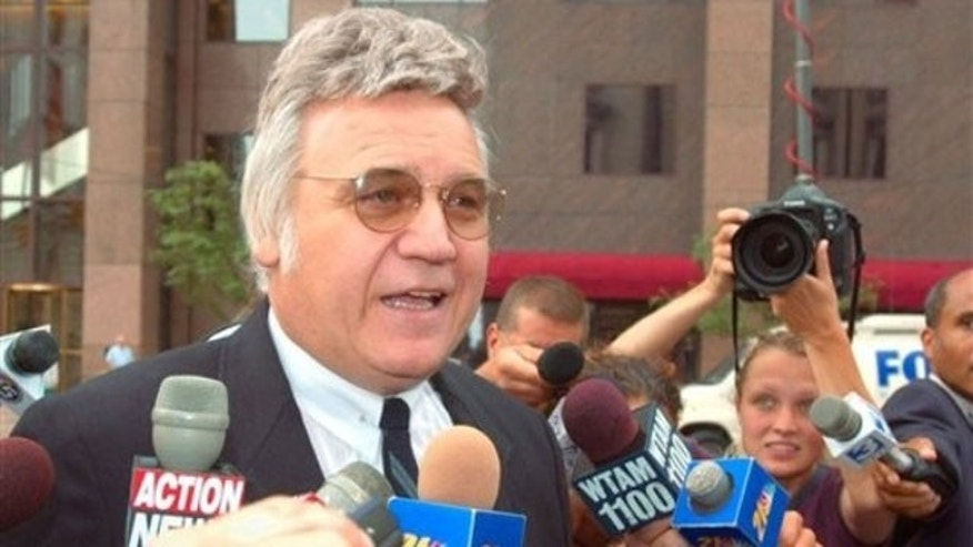 This July 30, 2002 file photo shows former Rep. James Traficant Jr. in Cleveland, Ohio (AP).