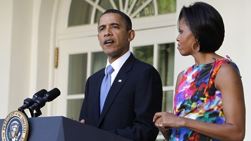 May 5: President Obama speaks as first lady Michelle looks on during a celebration of Cinco de Mayo.